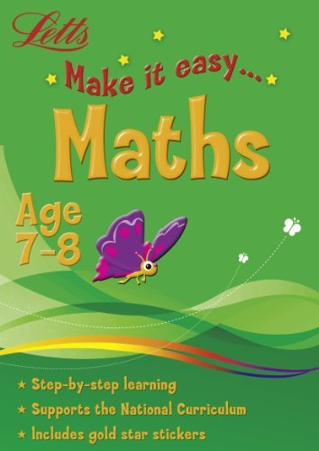 Maths Age 7-8 (Letts Make It Easy) [Paperback]