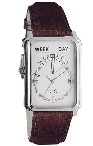D & G Dolce & Gabbana Men's Quartz Watch with Black Dial Analogue Display Quartz Leather DW0125