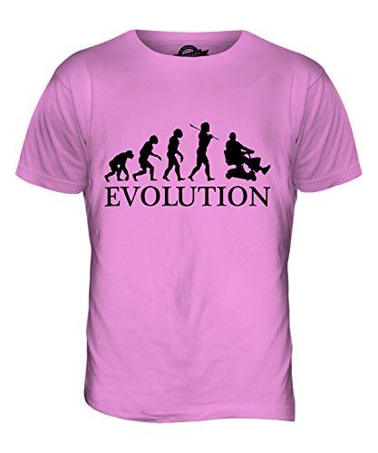 CandyMix Scooter Di Mobilità Evoluzione Umana T-Shirt da Uomo Maglietta Rosa