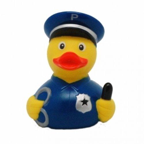 DUCKSHOP   Badeente Polizei   Quietscheente   L: 7,5 cm