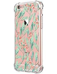 JEPER Funda iPhone 6 6S Carcasa Silicona Transparente Protector TPU Airbag Anti-Choque Ultra-