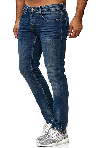 Tazzio Slim Fit Herren Styler Look Stretch Jeans Hose Denim 16533 Blau 29/34