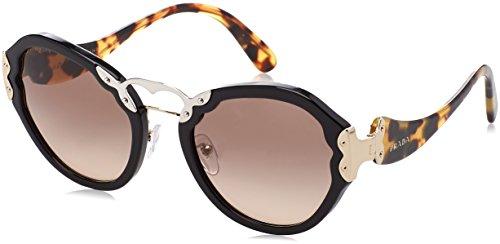 Prada Damen 0PR09TS 1AB3D0 54 Sonnenbrille, Schwarz (Black/Brown Grey),