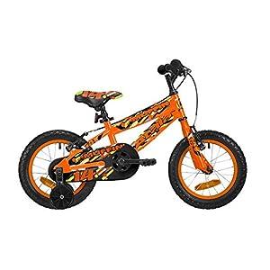 """41o9KOLmQ6L. SS300 Atala Bicicletta da Bambino Muffin 14"""", Colore Arancio Fluo"""