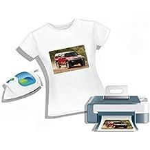 Carta da stampa per magliette A4 trasferimento dell'immagine su maglie col ferro da stiro x 10 fogli A4 per magliette chiare (Maglie Chiare) - 2AINTIMO®