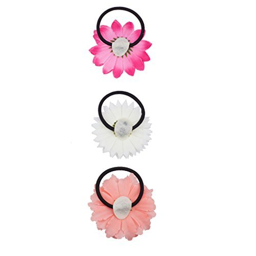 lux-zubehor-sonnenblume-rosa-pfirsich-blumen-stretch-hair-krawatte-haargummi-haargummi
