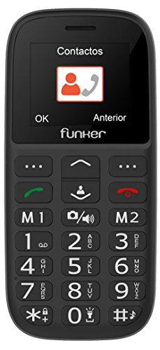 Teléfono Móvil Funker - C65 Negro Easy Plus- Personas