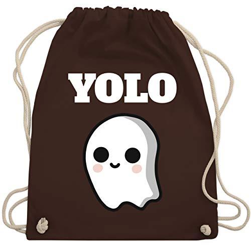 Halloween - Geist YOLO Motiv - Unisize - Braun - WM110 - Turnbeutel & Gym Bag