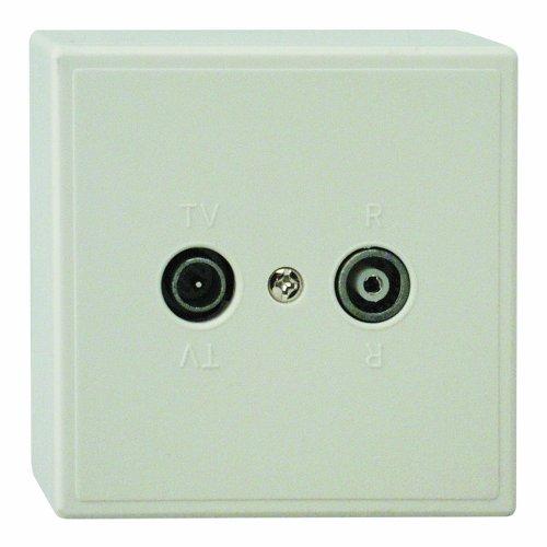 REV Ritter 0500440551 Standard UP/AP Antennen-Dose TV/RF, weiß