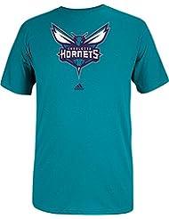 Charlotte Hornets Adidas NBA Primary Logo Men's Teal T-Shirt Chemise