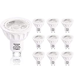 Bomcosy Led Leuchtmittel GU10 Dimmbar, 6W 540 Lumen LED Lampe, 3000 Kelvin Warmweiß ersetzt 50W Halogenlampen, 35°Strahlwinkel Reflektorlampen, 10 Stück