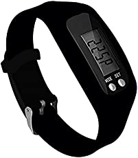 Hoteon Digital Watch Fitness&Activity Tracker, Time, Step Counter, Calories, Distance (Black)