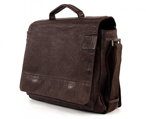 Strellson Upminster Aktentasche BriefBag L 900 black 702 dark brown