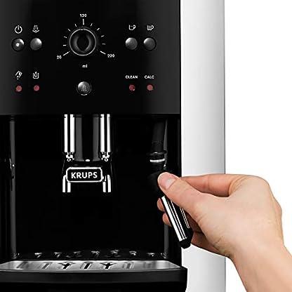 Krups-EA8118-Arabica-Picto-Quattro-Force-Kaffeevollautomat-1450-Watt-Wassertankkapazitt-18l-Pumpendruck-15-Bar-schwarzsilber