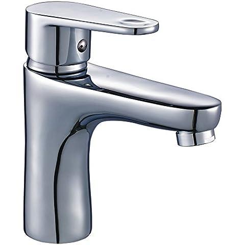 Auralum® Miscelatoro lavabo rubinetti per lavandini bagno monocomando colore Cromo