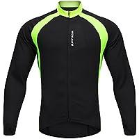 SunDay Jerseys de ciclo de la manga larga respirable del Mens que completan un ciclo las tapas de la bicicleta de las camisas para la bici, el motorista, la bicicleta