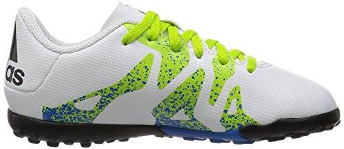 adidas X 15.4 Turf, Chaussures de Football Garçon Blanc (Ftwr White/Semi Solar Slime/Core Black)