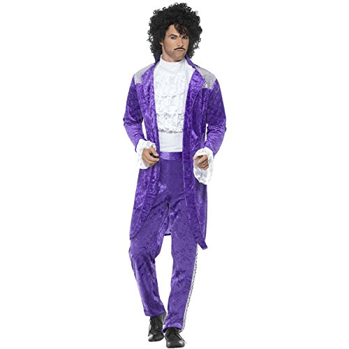 siker Prince Kostüm Herren Smiffy's (Prince Jacke Kostüm)