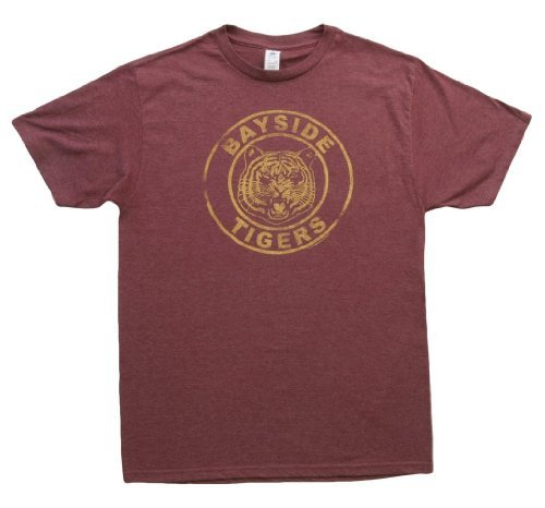 Saved By the Bell Bayside Tigers Maroon T-Shirt (Small) -