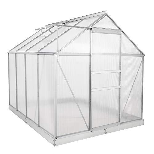Zelsius Aluminium Gewächshaus für den Garten - 6