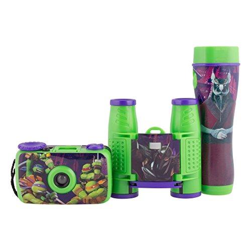 Teenage Mutant Ninja Turtles La Reine des neiges 3 pièces Adventure Kit avec Camera, Lampe de Poche et Jumelles