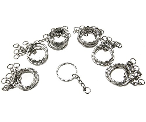 50pcs-keyring-blanks-55mm-silver-tone-key-chains-key-split-rings-4-link-chain