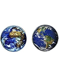 World/Earth Cufflinks and Cuff link presentation box