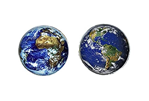 World/Earth Cufflinks and Cuff link presentation box (World
