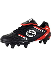 Optimum Tribal Football Rugby Boots PU Upper 6 Stud Laces Up Sports Trainers