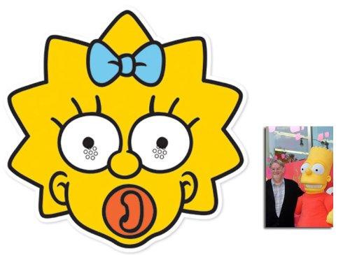 Simpson Maggie Kostüm - Maggie Simpson Karte Partei Gesichtsmasken (Maske) (Die Simpsons) - Enthält 6X4 (15X10Cm) starfoto
