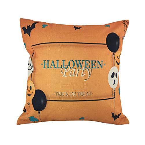 en Kissenbezug, Spirit of Halloween Thriller Throw Kissenbezüge 100% Baumwolle Leinen Reißverschluss, Kissen Couch Kissenbezüge,E,18