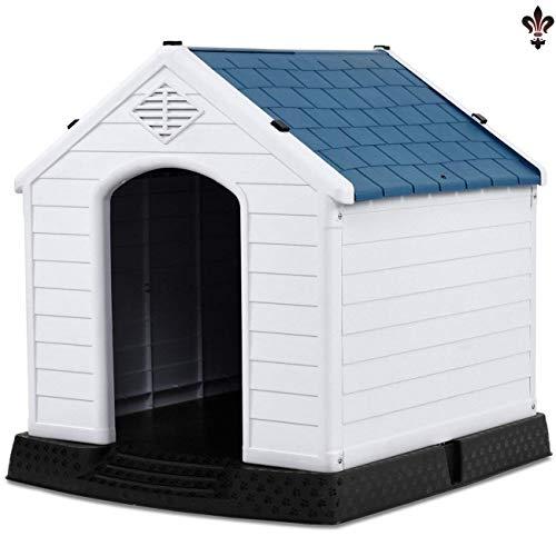 Casa per Cani Cay2T-Pet, Materiale Plastico, Cuccia per Animali Impermeabile, con Prese d'Aria E Pavimenti Sopraelevati, Adatta per Uso Interno Ed Esterno