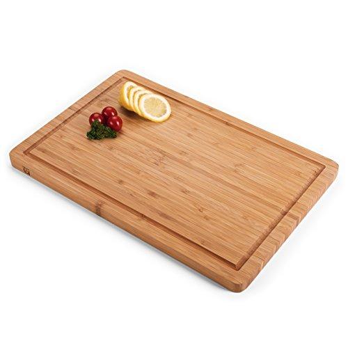 Blumtal tagliere da cucina in legno di bambù | misura large | ideale come piatto da portata rettangolare in bamboo per salumi, formaggi, pane | naturale, antisettico | manuale incluso | by