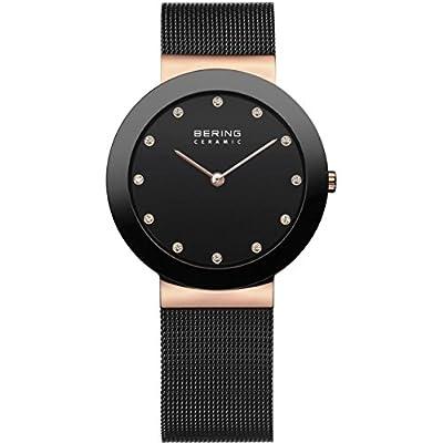 Bering 11435-166 - Reloj unisex, correa de acero inoxidable color negro de Bering