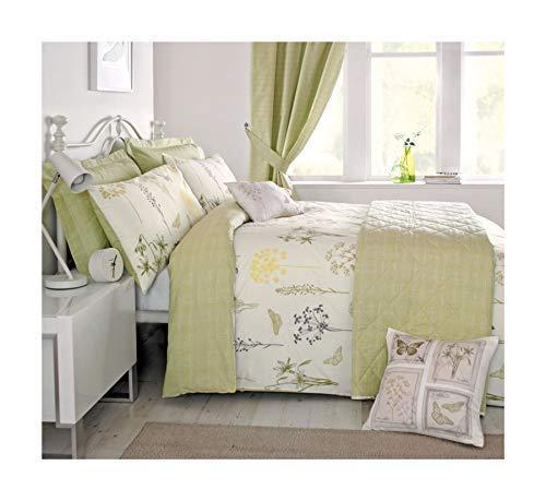 Wiesen Schmetterling Blumen Grüne Bettdecke # Euqinatob Cur - Grüne Bettdecken