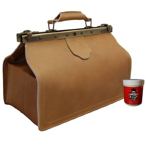 Maltzahn - Sac de FREIHERR du Docteur cuir bio aux soins gratuit, Hand Made en Allemagne - One Size, brun