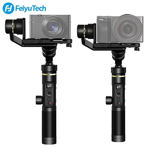 Feiyu G6 Plus 3-Axis Brushless Handheld Gimbal Stabilizer Splash-proof 800g Payload 12 Hours Running Time for Smartphone,Action Camera Gopro,Digital Cameras,Including Tripod and Extension Rod