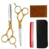 MojiDecor hårsax set, frisörsax kvinnor och män professionell hårsax och epiliersax för salong, frisör eller hemma
