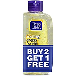 Clean & Clear Morning Energy Facewash, Lemon, 100ml (Buy 2 Get 1 Free)