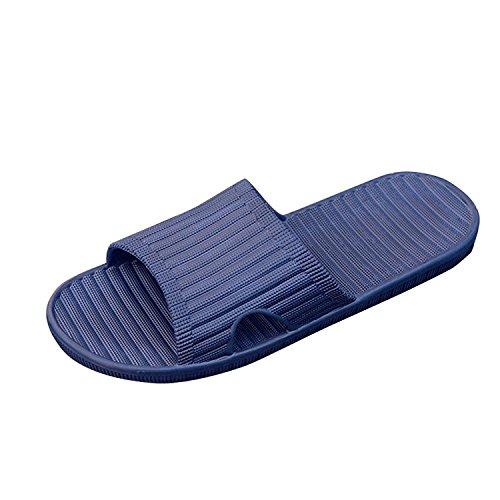 40 EU , Navy : Men Sandals Slippers , Mumustar Indoor Soft House Slide Flip Flops Rubber Slippers Non Slip Shower Shoes