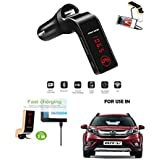Trovon Car G7 Bluetooth FM Transmitter With USB Flash Drives/TF Music Player Bluetooth Car Kit USB Car Charger