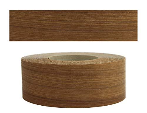 Mprofi MT® (5m Rotolo) Bordi in vero legno per i bordi dei mobili con colla Teak 60 mm