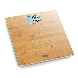 ADE BE925 Martina Bilancia digitale da bagno. Pesapersone elettronica ,superficie in bambú. Precisa fino a 150kg…