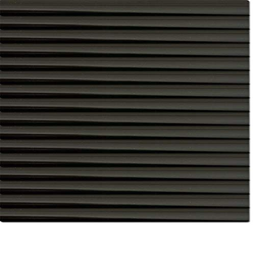 Dekologi persiana (Aluminio, 130x 160cm (Ancho x Altura)-Láminas Color 1903Negro//Medida Aluminio Veneciana-Estor Plisado