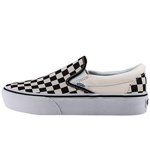 Vans Classic Slip-On Platform, Sneaker Infilare Donna Nero (Black And White Checker/white Bww)