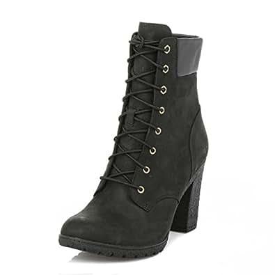 timberland womens black glancy 6 inch boots uk 8