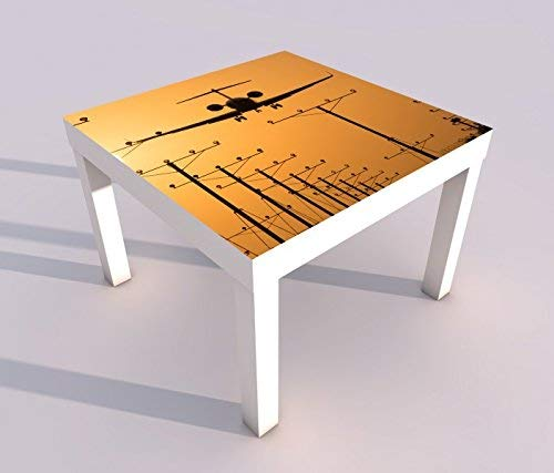 Diseño - Mesa UV Impresión 55x55cm Avión Landebahn