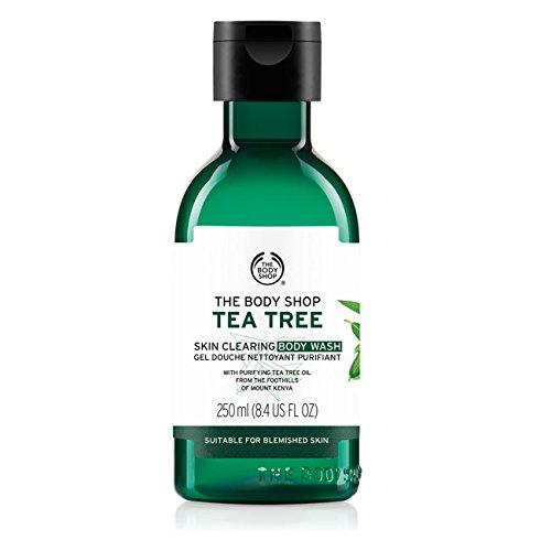La Body Shop corpo Gel Doccia 250ml albero del tè-riduce Acne/The Body Shop Tea Tree Body Wash Shower Gel 250ml-reduces, acne