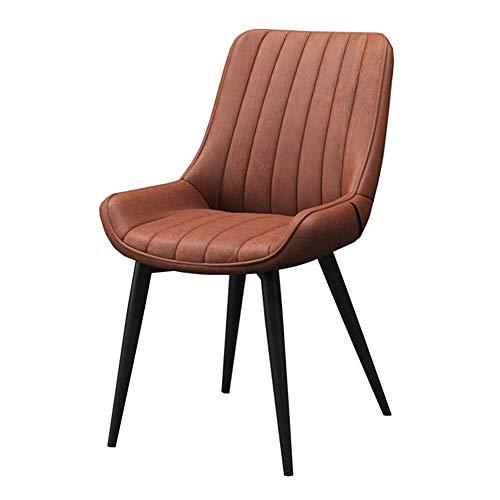 WYYY Bürostuhl Essensstuhl, Modern Rückenlehne Schreibtischstuhl Eisenrahmen Restaurant Cafe Wohnzimmer Hotel Durable stark (Color : Orange) -