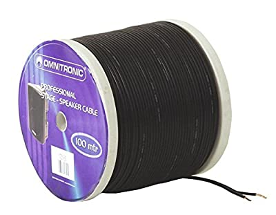 OMNITRONIC Speaker Cable 2x0,75 100m sw NYFAZ from OMNITRONIC